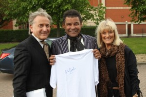 Craig Charles with Maxine and Brian Warner